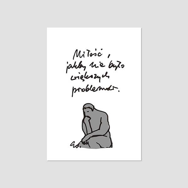 Zdjęcie produktu Pocztówka - Miłość, jakby nie było większych problemów