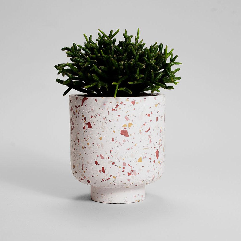 Zdjęcie produktu CAMPIO BURGUNDY TERRAZZO PLANT - doniczka