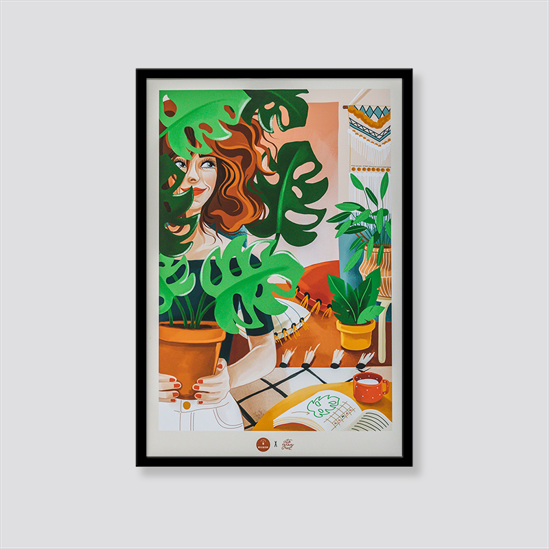 Zdjęcie produktu Plakat Dziewczyna z monsterą