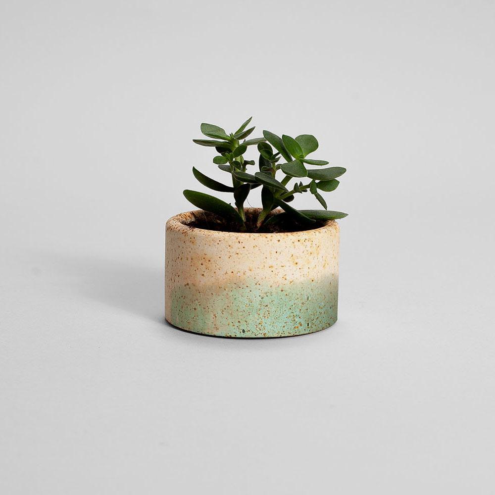 Zdjęcie produktu PARVI RUSTED TURQUOISE PLANT - doniczka