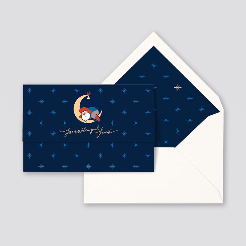 "Zdjęcie produktu Karnet ""Sleeping Santa"""