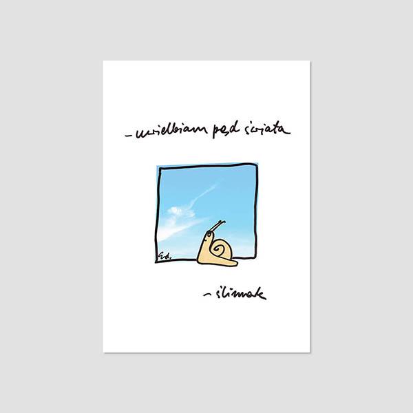Zdjęcie produktu Pocztówka -  Uwielbiam pęd świata – ślimak
