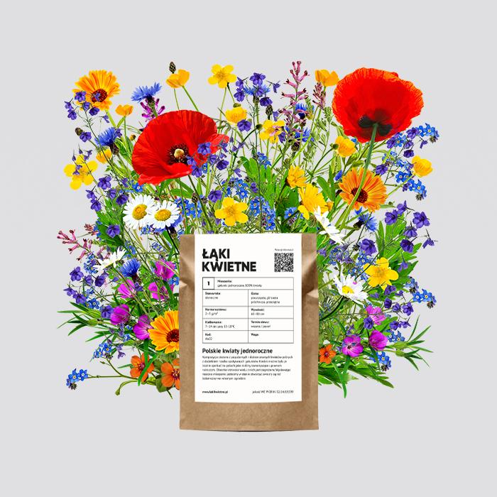 Zdjęcie produktu Łąka kwietna polskie kwiaty jednoroczne 100 g  (40m²)