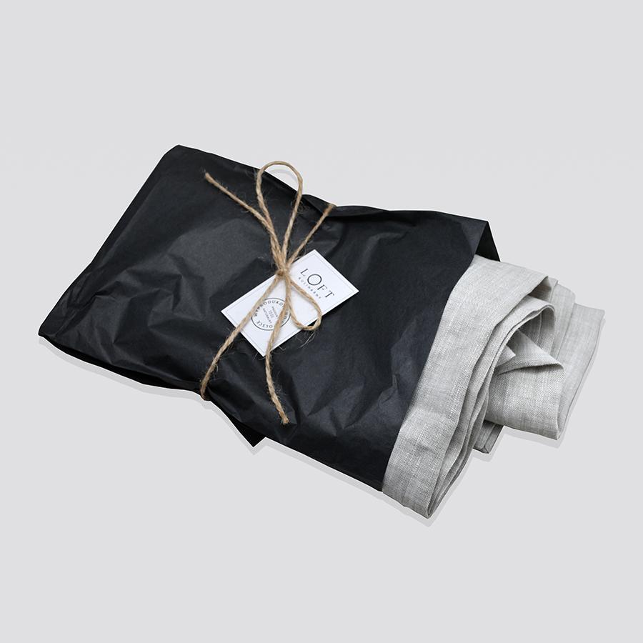 Zdjęcie produktu Obrus lniany jasny szary