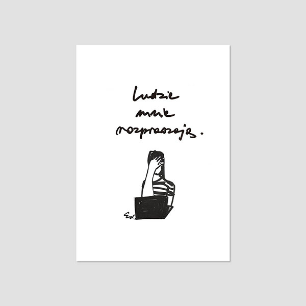 Zdjęcie produktu Pocztówka -  Ludzie mnie rozpraszają