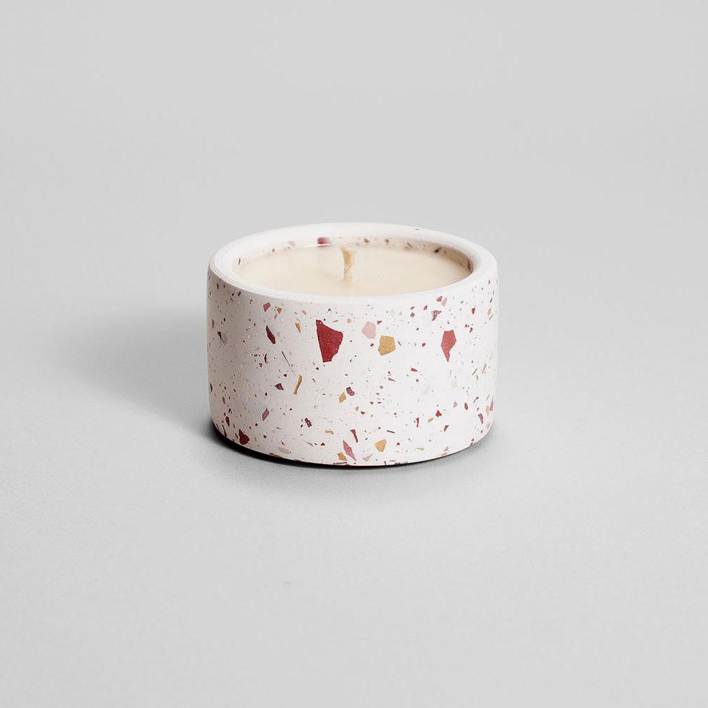 Zdjęcie produktu PARVI BURGUNDY TERRAZZO - świeczka