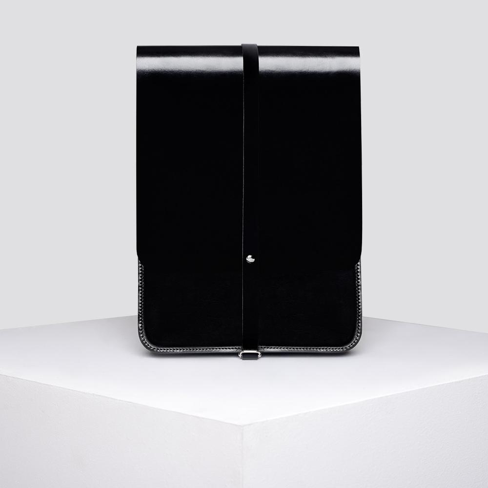 Zdjęcie produktu PLECAK - czarny, skórzany